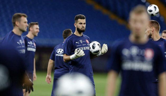 Český tým se chystá na zápas s Ruskem