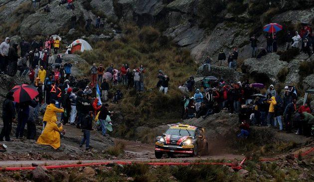 Martin Prokop s Fordem Fiesta WRC na trati Argentinské rallye.