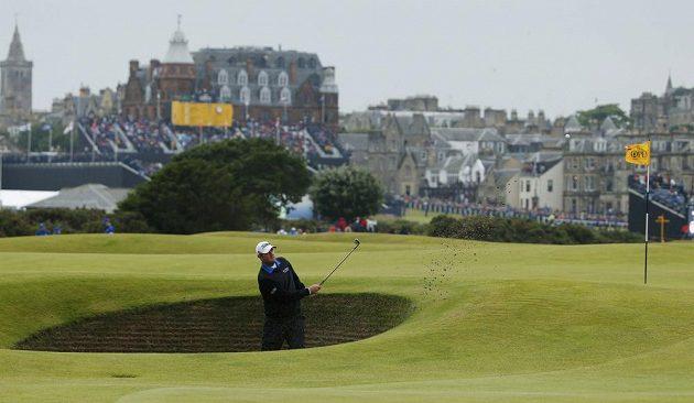 Australan Marc Leishman na golfovém majoru British Open.