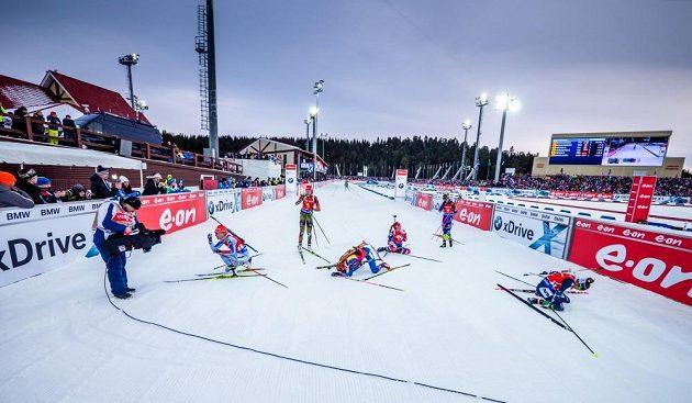 Stíhací závod žen v ruském Chanty-Mansijsku byl pro závodnice velmi těžký...