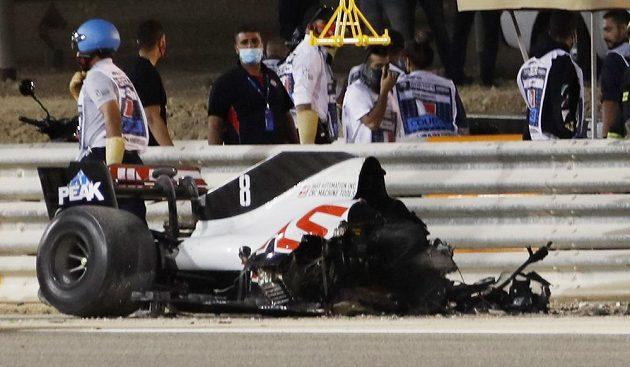 Vrak vozu Romaina Grosjeana