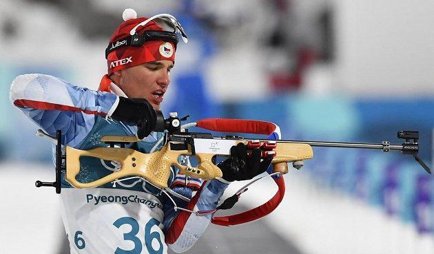 Michal Krčmář při sprintu na olympijských hrách.