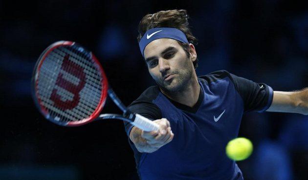 Roger Federer na Turnaji mistrů v Londýně letos ještě nepoznal přemožitele.