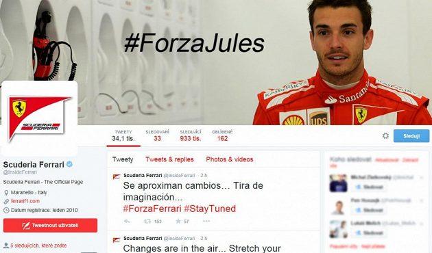 Oficiální twitterový účet týmu Ferrari