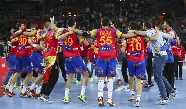 Triumfální radost španělského týmu nebrala konce...