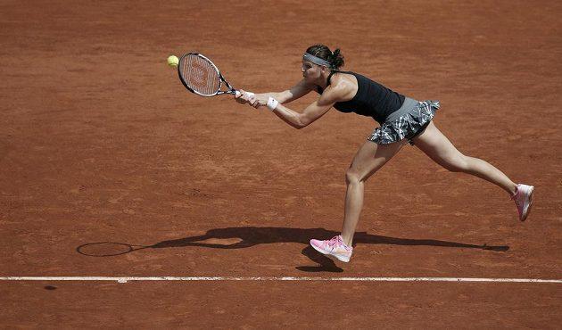 Česká tenistka Lucie Šafářová během vítězného duelu 3. kola Roland Garros.