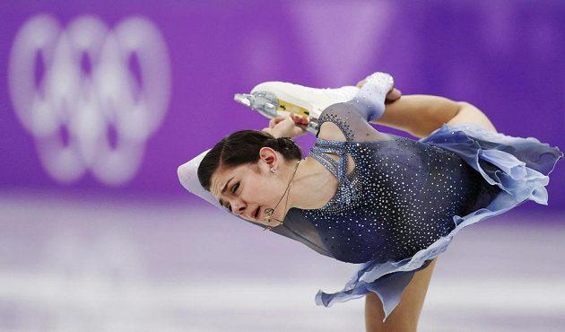 Jevgenia Medveděvová startující za výběr OSR během krátkého programu.
