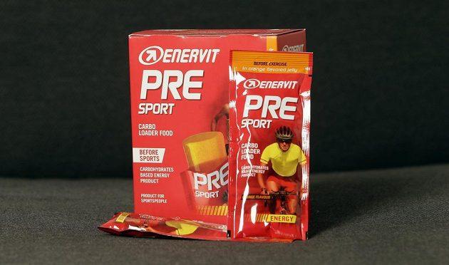Energetické doplňky stravy určené pro sportovce Enervit PRE Sport.