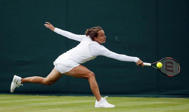 Barbora Strýcová na letošním Wimbledonu.