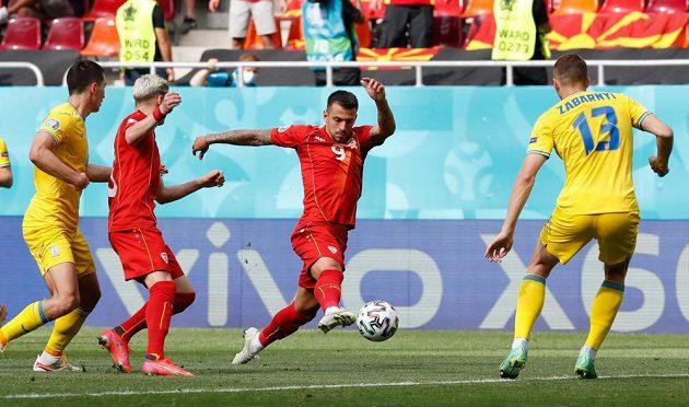 Fotbalisté Ukrajiny bojovali na EURO se Severní Makedonií