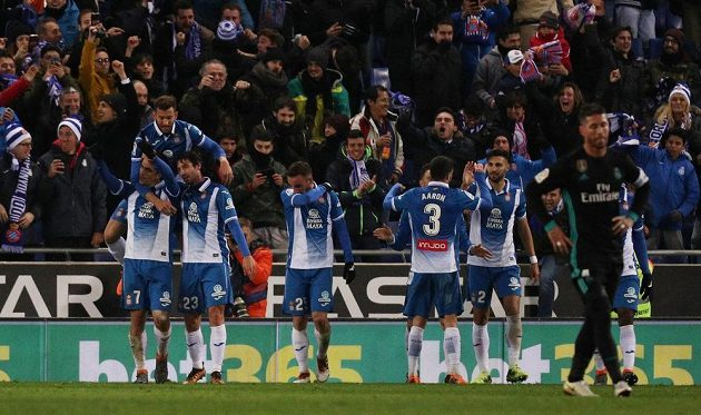 Barcelonská euforie. Espaňol vyhrál nad Realem Madrid v ligovém utkání 1:0.