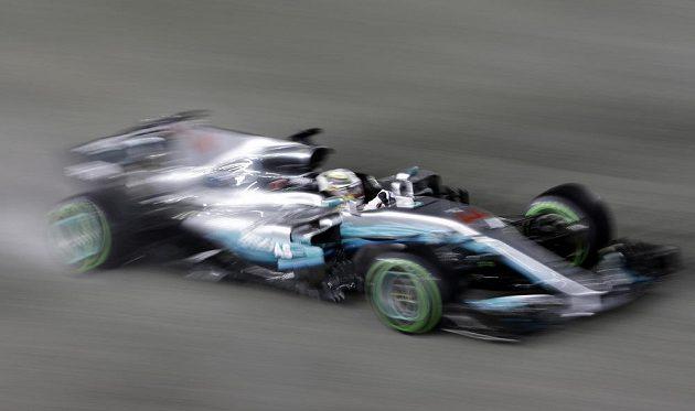 Brit Lewis Hamilton při Velké ceně Singapuru.