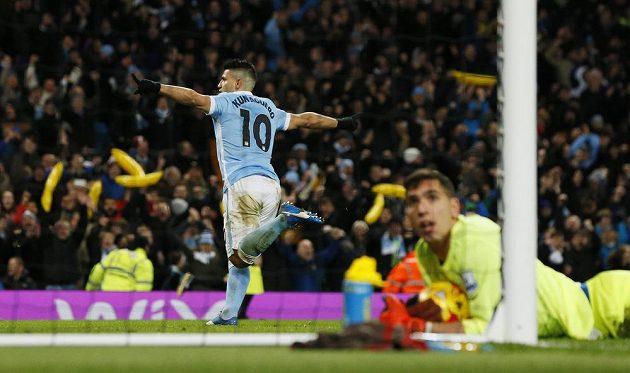 Útočník Manchesteru City Sergio Agüero.