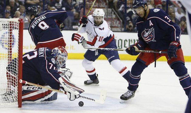 Ruský gólman Columbusu Sergej Bobrovskij sice tentokrát šanci Washingtonu zlikvidoval, nakonec ale tým Capitals slavil postup do 2. kola play off.