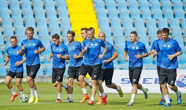 Liberečtí fotbalisté absolvovali ve středu v Košicích trénink před čtvrtečním úvodním utkáním druhého předkola Evropské ligy.