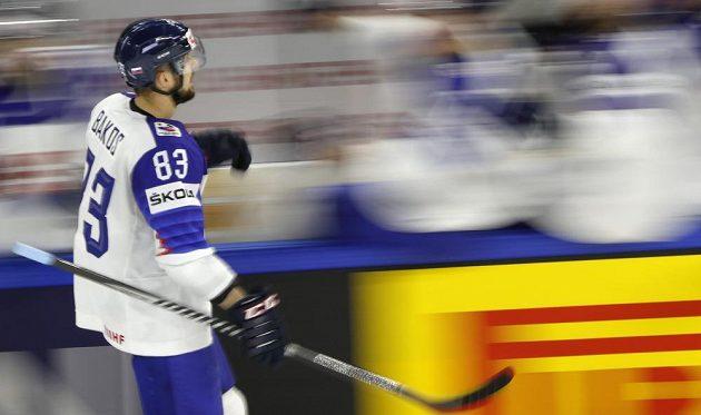 Slovák Martin Bakoš se raduje z gólu proti Bělorusku.