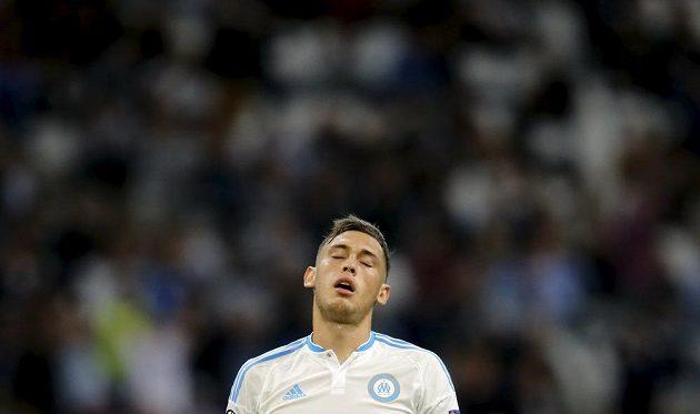 Zklamaný fotbalista Marseille Lucas Ocampos.