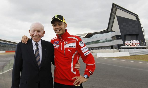 John Surtees a šampión z MotoGP Valentino Rossi.