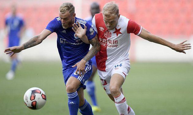 Zleva Joeri de Kamps ze Slovanu a Mick van Buren ze Slavie.