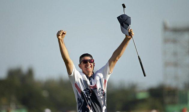 Nadšení Brita Justina Rose, nového olympijského vítěze v golfu.
