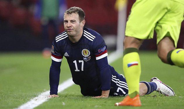 Skot Ryan Fraser v zápase s Českem.
