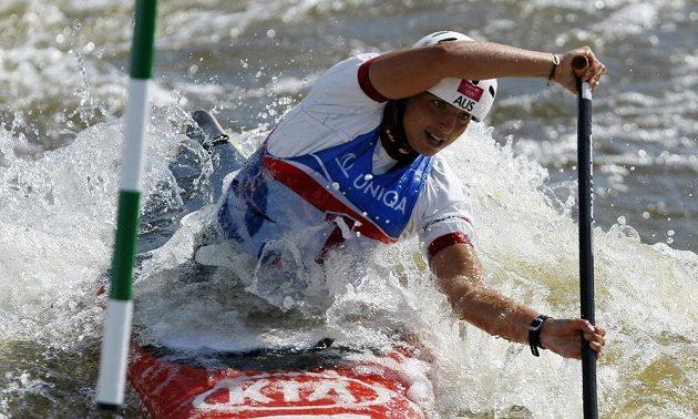Jessica Foxová ve finálovém závodu kategorie C1 žen.