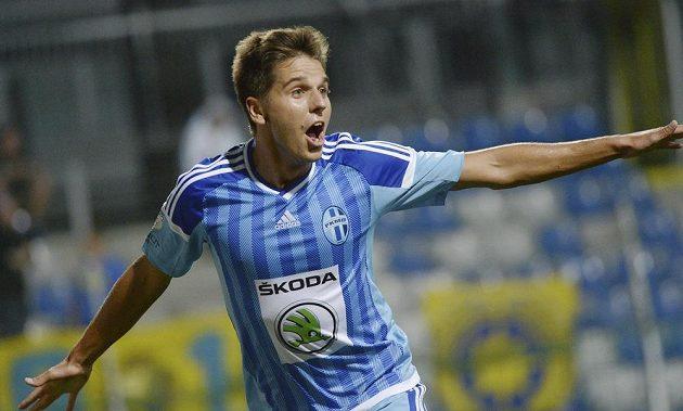 Aleš Čermák, střelec druhého gólu Mladé Boleslavi v ligovém utkání proti Zlínu.