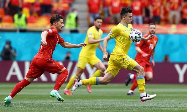 Fotbalisté Ukrajiny bojovali se Severní Makedonií