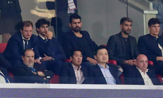 Utkání Atlético - Chelsea sledoval i Diego Costa, který po třech letech v londýnském klubu vrací do Atlétika.