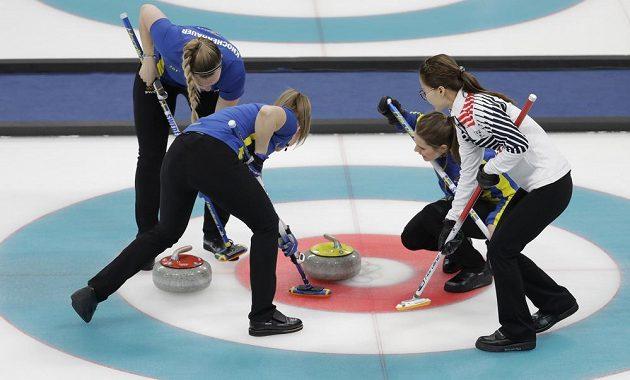 O olympijské zlato v curlingu se utkaly Švédky s domácími Korejkami.