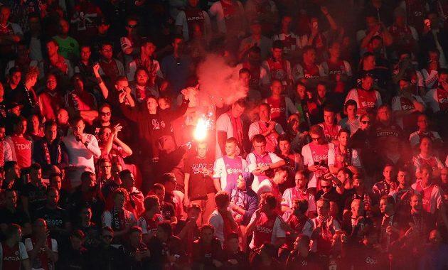 Fanoušci Ajaxu během finále Evropské ligy.