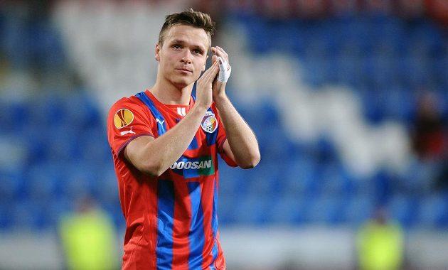 Plzeňský útočník Stanislav Tecl po utkání osmifinále Evropské ligy proti Lyonu.