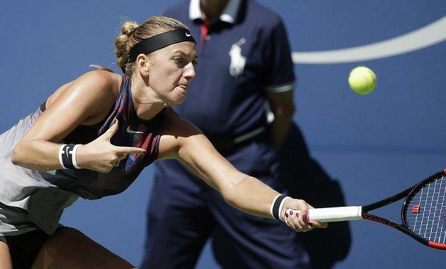 Česká hráčka při zápase s Garciaovou.