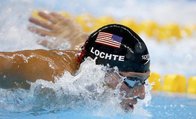 Americký plavec Ryan Lochte na olympiádě v Riu.