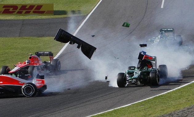 V průběhu GP Japonska nechyběly dramatické momenty.