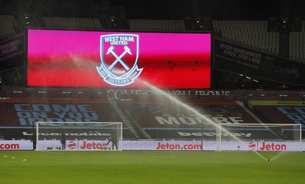 Stadion před utkáním West Ham United - Aston Villa.