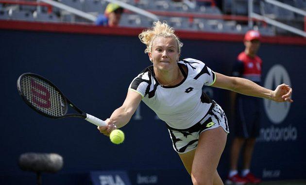 Zlatá medailistka z Tokia - tenistka Kateřina Siniaková - řádila v úvodním kole dvouhry na turnaji v Montrealu jako uragán.
