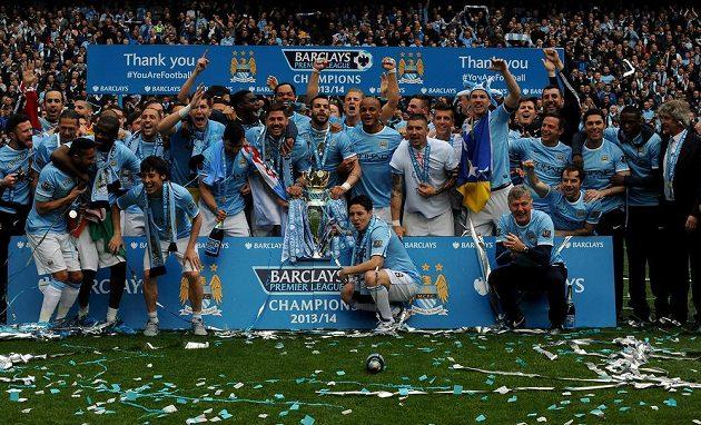Fotbalisté Manchesteru City vyhráli anglickou ligu.