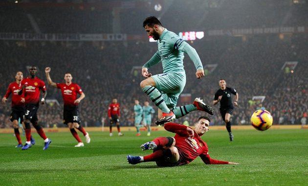 Šlágrem Premier League byl duel Manchesteru United s Arsenalem