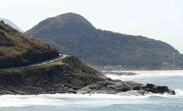 Velká část olympijského závodu vedla po pobřeží.