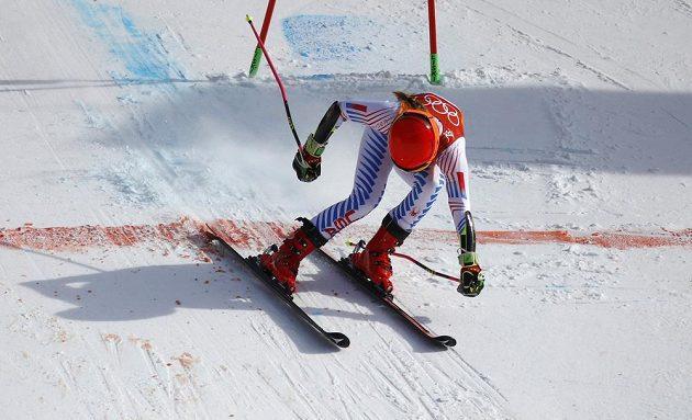 Vítězka obřího slalomu - Američanka Mikaela Shiffrinová.