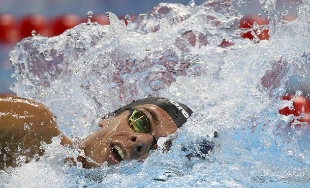 Italský plavec Gregorio Paltrinieri.