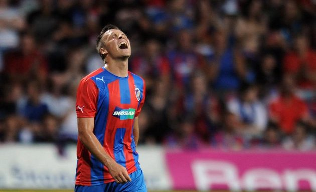 Plzeňský útočník Stanislav Tecl během 3. předkola Ligy mistrů mezi FC Viktoria Plzeň a JK Nomme Kalju.