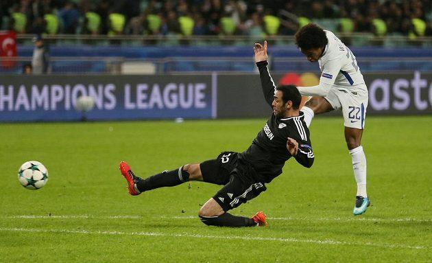 Willianova gólová trefa uzavřela účet utkání Chelsea - Karabach.