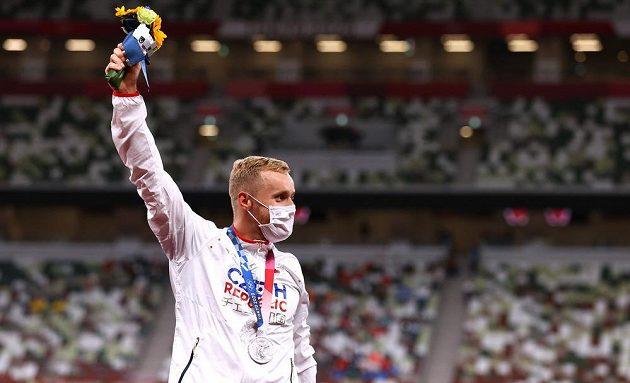 Stříbrný medailista z olympijské soutěže oštěpařů - Jakub Vadlejch.