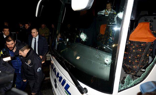 Turecká policie na místě činu.