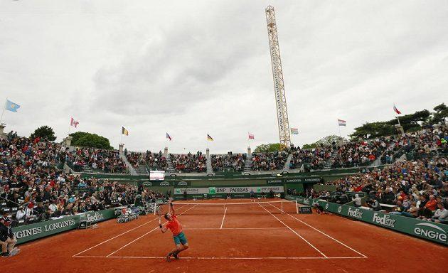 Český tenista Tomáš Berdych v osmifinále French Open.