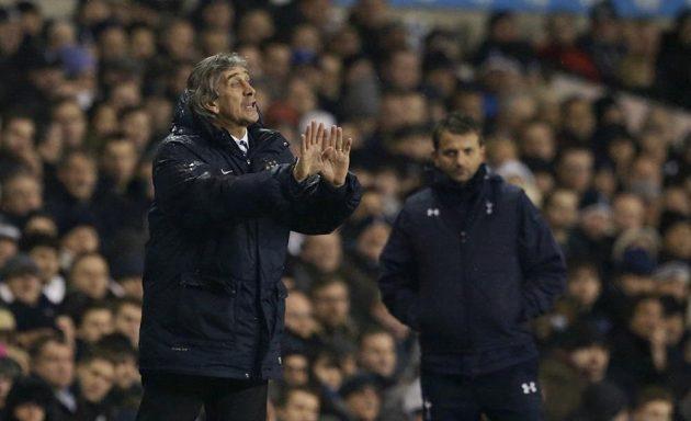 Kouč City Manuel Pellegrini v duelu City s Tottenhamem.