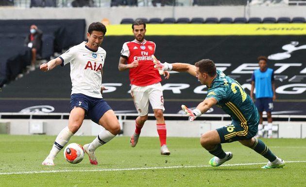 Fotbalisté Tottenhamu si poradili s Arsenalem