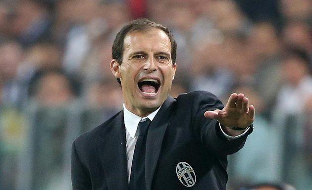 Kouč Juventusu Massimiliano Allegri během semifinále Ligy mistrů proti Realu.